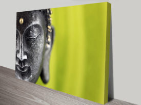 Buddha Head Green Wall Art