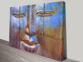 Buddha Triptych sydney canvas.