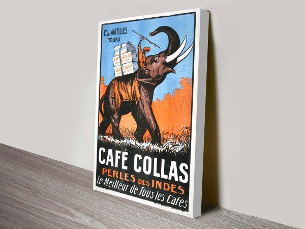 Cafe Collas Vintage Art Canvas