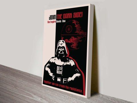 Dark Side Propaganda Star Wars Art Poster
