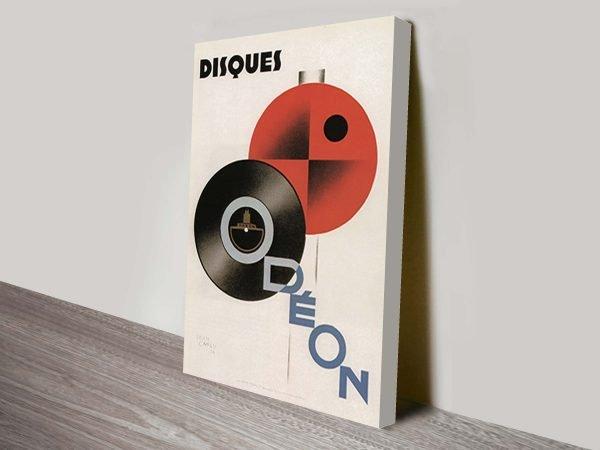 Disques Dudovich art deco poster