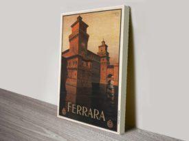 Ferrara travel poster giclee print