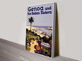 Genoa travel poster Canvas Artwork