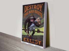 Wartime Propaganda poster HR Hoops