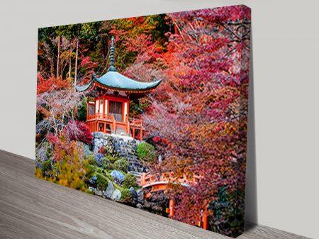 Japanese Hillside Pagoda Art