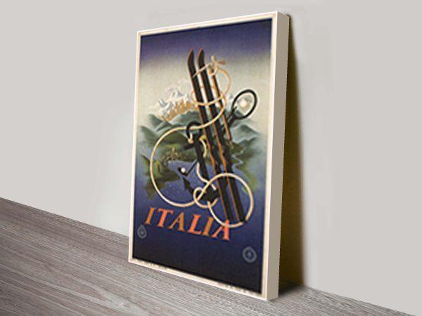 Italia travel posters advertising