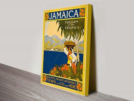 Jamaica Thomas Cook travel poster