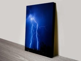 Lightning Storm Artwork on Canvas