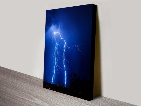 Lightning Storm Artwork on Canvas