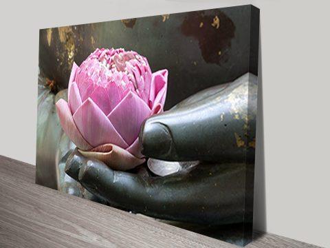 Lotus Flower Hand wall art