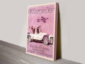 Mercedes vintage car poster