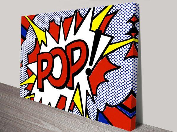 Roy Lichtenstein pop canvas print