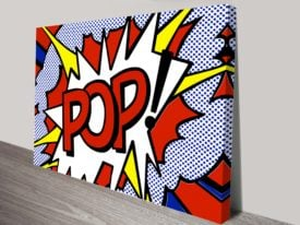 roy lichtenstein pop print