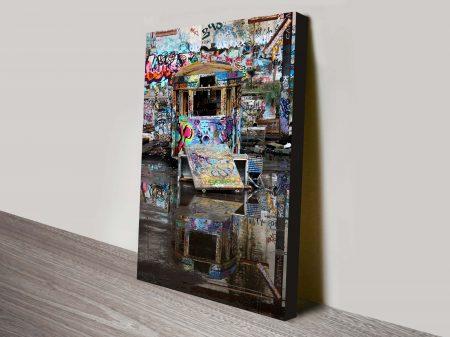 Buy Ramped Up Tram Graffiti Framed Art