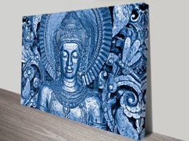 Silver Buddha Canvas Print