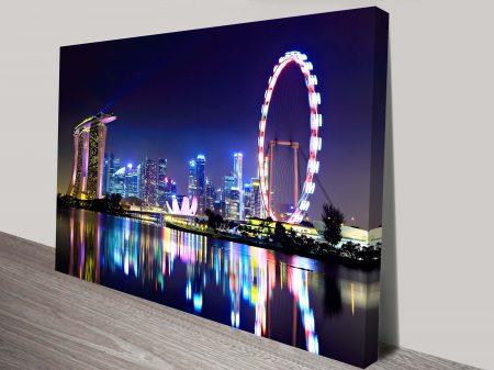Singapore City Skyline Canvas Print