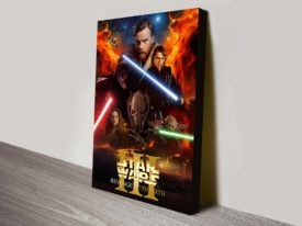 Revenge Of The Sith III Star Wars Poster On Canvas
