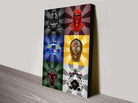 Star Wars Dia De Los Muertos Wall Star Wars Art
