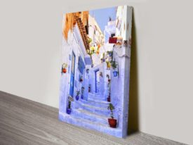 Streets of Morocco Artwork on Canvas