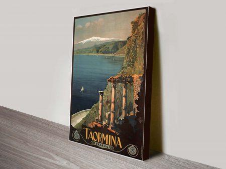 Taormina Vintage Travel Poster