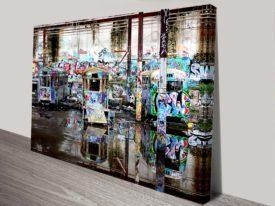 Three Sentinels Tram City Image Canvas Print Australia