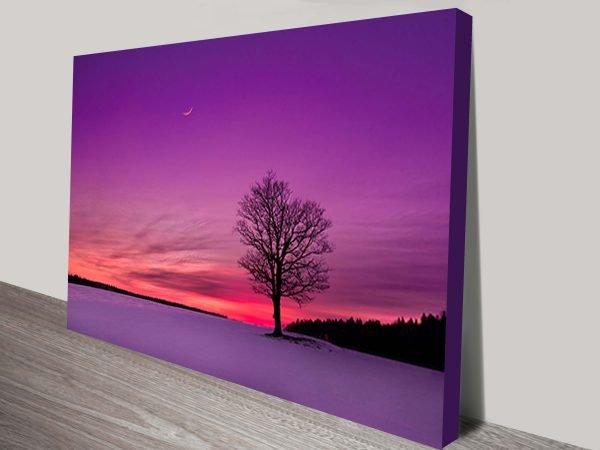 Buy Affordable Sunset Landscape Wall Art AU