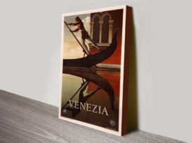 Venezia travel poster Canvas art