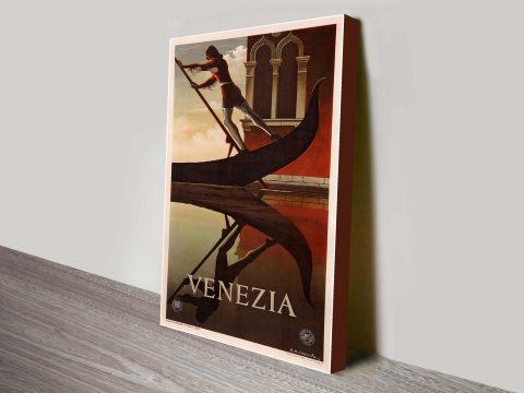 Venezia travel poster Canvas art