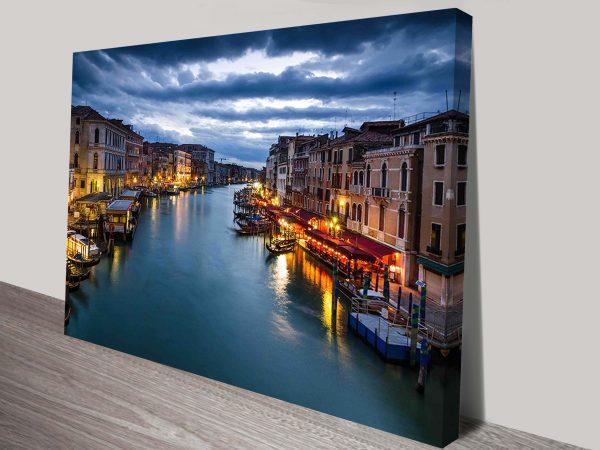 Venice Canals Canvas Wall Art