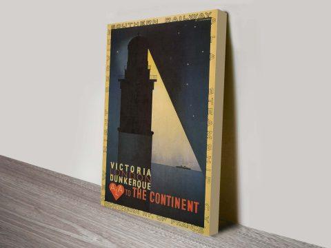 London Victoria travel poster Canvas