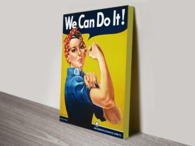 We can do it war time poster canvas