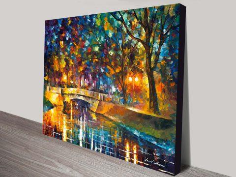 Bridge of Impressions Leonid Afremov Canvas Print