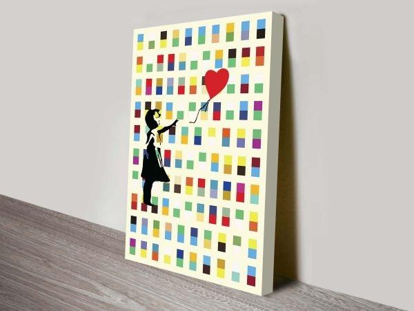 Banksy Retro Balloon Girl Print