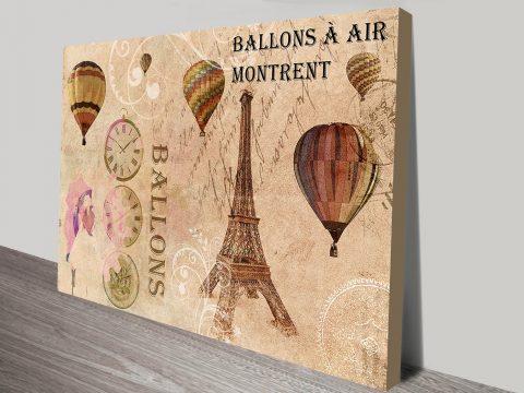 Balloons Vintage Art Canvas