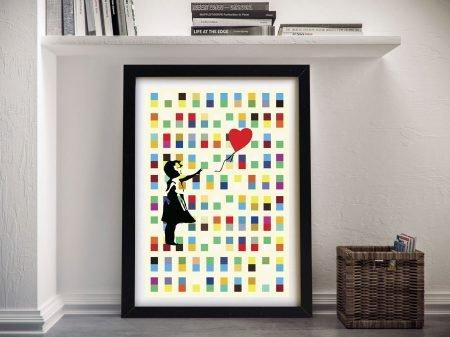 Banksy Balloon Girl Framed Wall Art