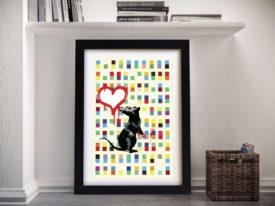 Banksy Rat Framed Wall Art