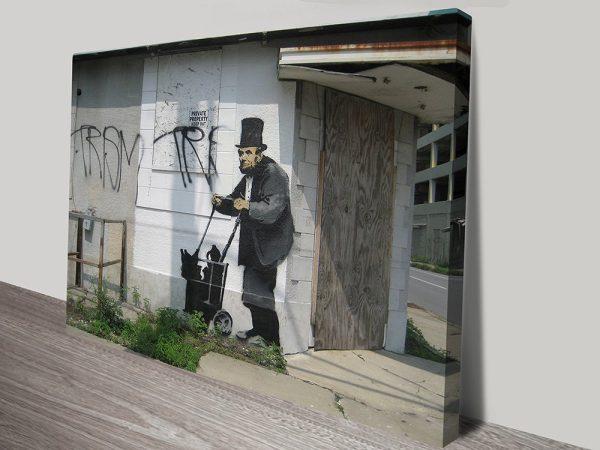 Banksy Abraham Lincoln canvas print