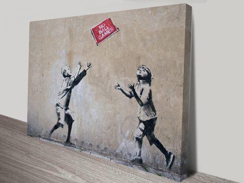 Banksy Art No Ball Games prints