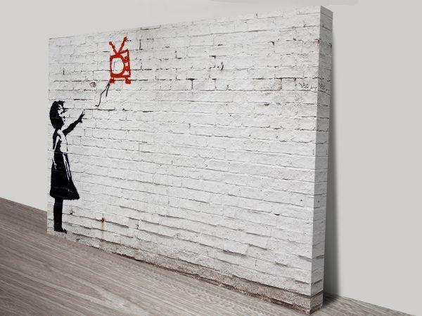Banksy Balloon Girl on Wall