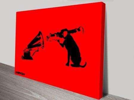 Banksy Dog hmv canvas art