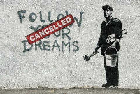 Banksy Follow Your Dreams Wall Art Australia