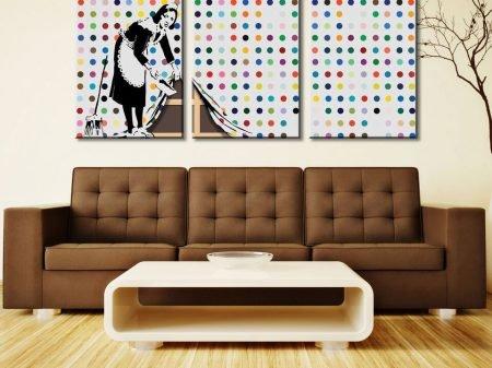 Buy Banksy Keeping It Spotless 3-Panel Art