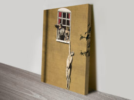 Banksy Lovers Canvas Print