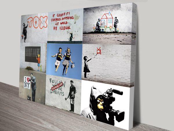 Banksy Montage framed artwork