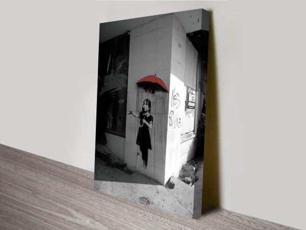Banksy Raingirl Canvas Print