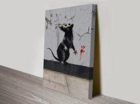 Banksy Rat canvas artwork