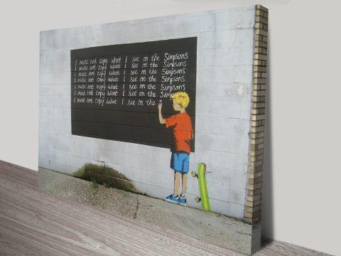 Banksy Simpsons Print Wall Art