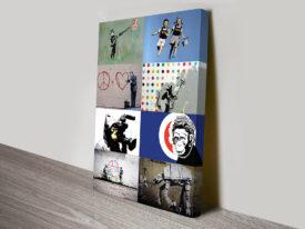 Banksy montage art
