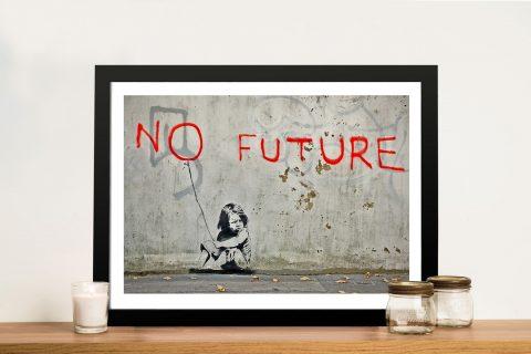 Banksy no future Framed Wall Art