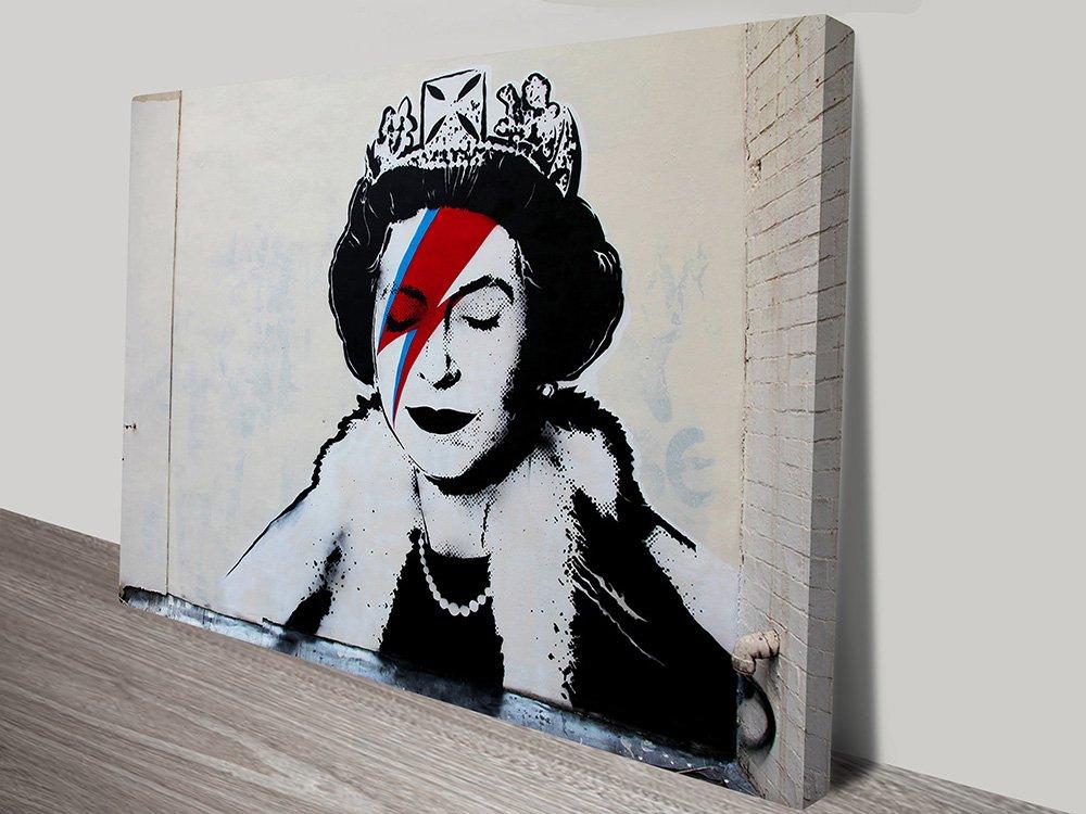 buy banksy ziggy stardust framed wall art tennyson brisbane australia